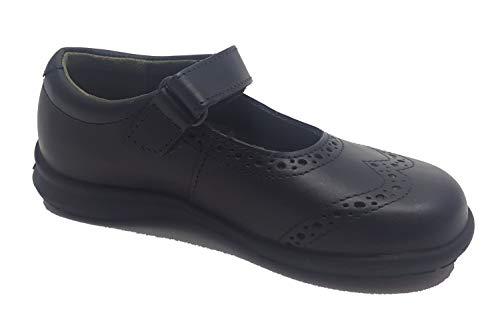 Zapato Colegial Niña Marca Gorila Color Marino T33