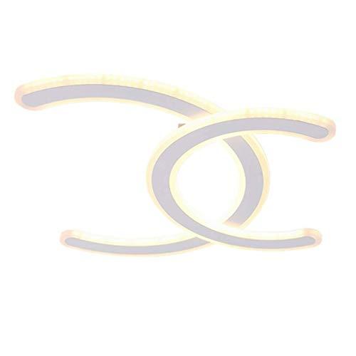 ▶ LED-Lampe Deckenleuchte Minimalistisches Wohnzimmer Esszimmer Schlafzimmer Acryl Doppel C-Form Deckenleuchte Moderne Küchen Leuchte Deckenbeleuchtung Kinderzimmer-Deckenstrahler Dimmbar & Oslash; 48 - 48 Triangle Form