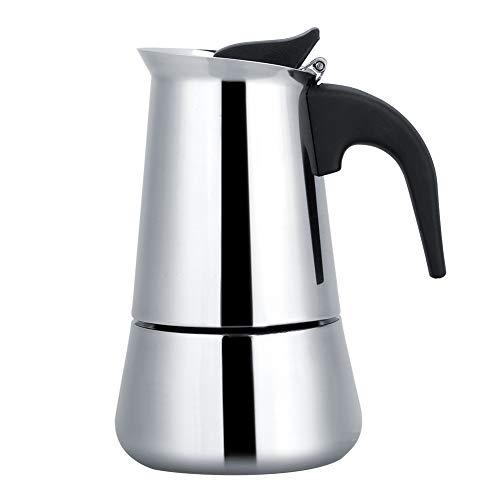 Duokon Espressokocher aus Edelstahl, tragbar, ideal für Camping, Reisen 450ml