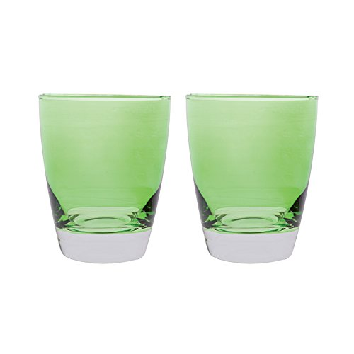 Excelsa Confezione Bicchieri in Vetro, Verde, 2 Pezzi