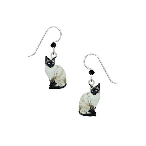Sienna Sky USA Siamesische Katzen-Ohrringe mit Geschenkbox -