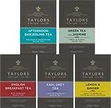 Taylors Assorted Mix: 2 englische Tee Frühstück, 1 Earl Grey Tee, 1 Nachmittag Darjeeling Tee, 1 grüner Tee mit Jasmin, 1 Infusion Zitrone & Ingwer / Auswahl an Tee und Aufgüsse: 2 x Tee schwarz englisches Frühstück, 1 x schwarzer Tee mit Bergamotte , 1 x Schwarzer Tee des Nachmittags Darjeeling, 1 x Grüner Tee mit Jasmin, 1 x Infusion Zitrone & Ingwer - 6 x 20 einzeln verpackte und getaggte Teebeutel (280 Gramm)