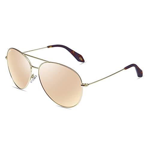 LDY Vintage polarisierte Sonnenbrille für Frauen, UV400-Schutzglas, Acetat-Rahmen - Braun