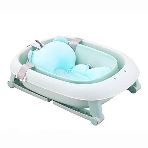 TNDHY Baby-zusammenklappbare Badewanne, Schwimmen Neugeborene Kinder Bath Barrel Home Baby Badewanne (Color : Green) -