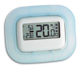 Preisvergleich Produktbild TFA Digitales Thermometer (inkl Batterie) blau-weiß 301042