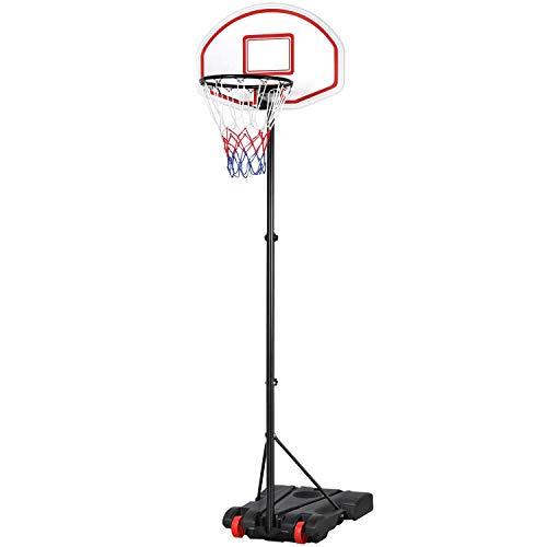 Yaheetech Basketballkorb mit Ständer Basketballkorb Set Basketballanlage 159 bis 214 cm Höhenverstellbar