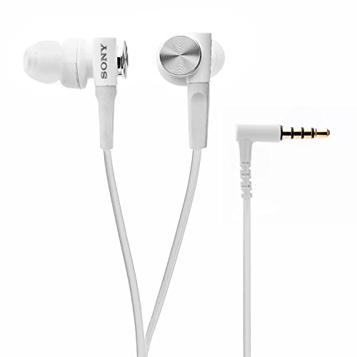 Sony Extra Bass MDR-XB50AP In-Ear Headphones with Mic (White)