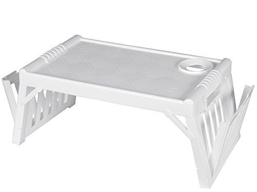 Bandeja X ammalato Camera cama Desayuno multifunción de plástico blanco