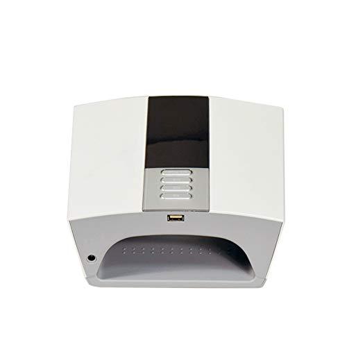 OKMIJNBH Secador de uñas 60 W UV/LED Completamente automático Inteligente Manicura/Bleaching fototerapia máquina de Varias regulaciones de Potencia Secador de uñas (Negro/Blanco)