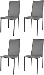 t m c s Tommychairs - Set 4 sedie impilabili Modello Julia per Cucina Bar e Sala da Pranzo, Robusta Struttura