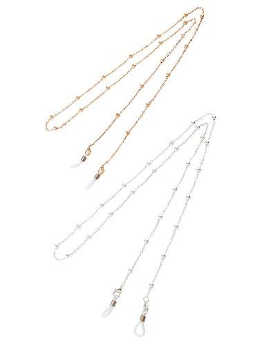 8b730e540a1779 Mini Tree Brillenketten für Lesebrillen Gold und Silber Perlen Brillen Cord  Brillenband Damen Lesebrille Brille Kette Sonnebrillen Band Lesebrillen  Kette ...