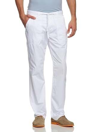 TOM TAILOR Herren Hose 64009750010/cotton beach pants, Gr. 30/32, Weiß (2000 white)