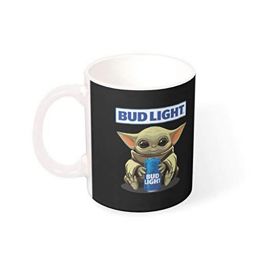 NC83 11 Oz Wasser Kaffee Becher mit Griff Porzellan Humor Becher Tasse - Mädchen Geschenke, Geeignet für Familie verwenden White 330ml