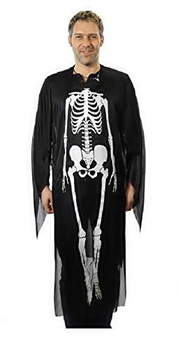 Widmann WID - Kostüm - Skelett - Geeignet für Erwachsene - Verkleidung - Karneval - Halloween - Cosplay - Eine Größe