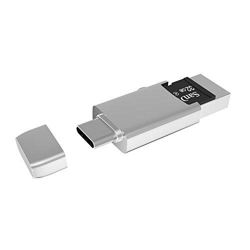 Micro SD Kartenleser USB C, ICZI OTG Adapter USB Typ C auf USB 3.0 / 2.0 mit TF kartenleser für Samsung Galaxy S8/S8 Plus, New MacBook, Macbook Pro 2016/2017, ChromeBook Pixel, Nexus 5X/6P usw. (Usb-3-micro-sd-adapter)