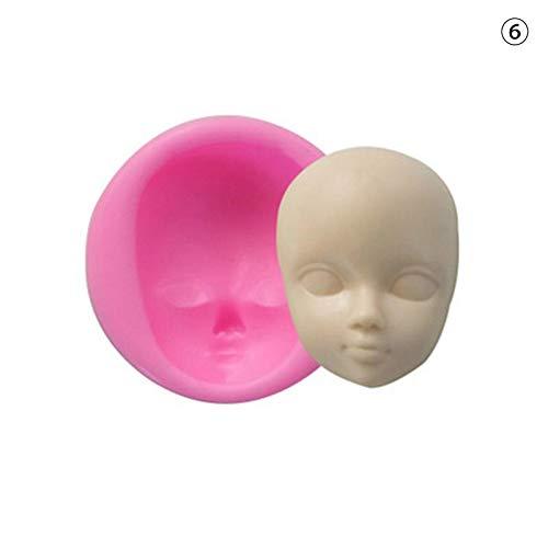 ELEVENH Harz Formen DIY Junge Gesichter mädchen Kopf 3D Baby Gesicht Polymer Clay silikonform Kochen Werkzeuge Fondant Kuchen dekorieren Werkzeug, b