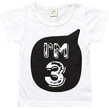 Yying Baby Boy Girl Camisetas para Niños Ropa Little Baby 1-6Years Trajes  Cumpleaños Camiseta de367295891e3