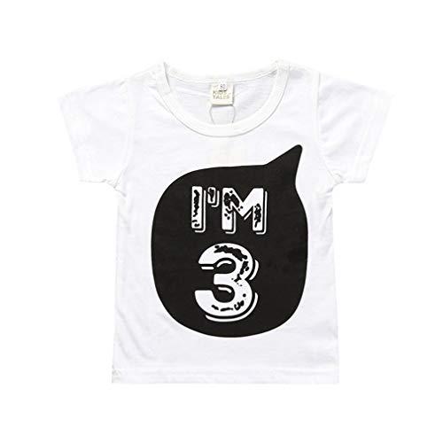 Yying Bébé Garçon Fille T-Shirts pour Enfants Vêtements Petit Bébé 1-6ans Anniversaire Tenues Enfants Tee Shirt Tops