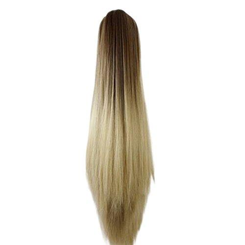 (Trada Perücke haarteile, Frauen Mode Klaue Clip Lange Gerade Pferdeschwanz Haarverlängerungen Perücke Haarteil Haarteile Echthaar Hair Haarteil Haarverdichtung (C))