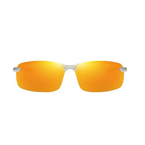 TISESIT Polarisierte Sport-Sonnenbrille für Unisex, Radfahren Golf Angeln Skifahren Segeln Fahren, UV400-Schutz, Wrap Around Leichter robuster Rahmen, Zubehör mit Etui,G