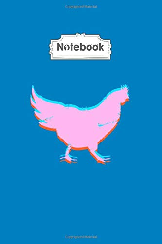 Notebook: 3d chicken - 50 sheets, 100 pages - 6 x 9 inches