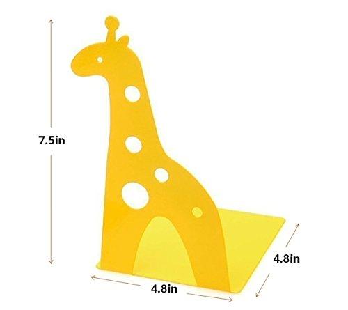 Jolly Cute Jirafa Antideslizante Art Sujetalibros 1 Par Amarillo