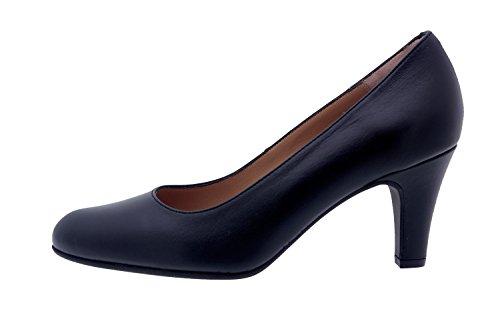 Chaussure femme confort en cuir Piesanto 7201 escarpin habillé comfortables amples Piel Negro