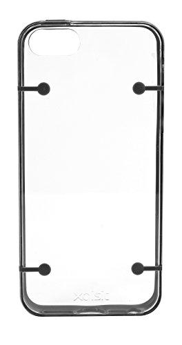 Xqisit 13006 Coque pour iPhone 5 Blanc Noir