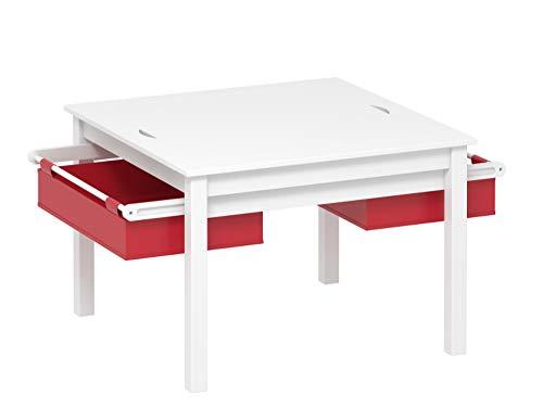 UTEX 2 In 1 Kinder BAU Play Tisch,weiß 2 -