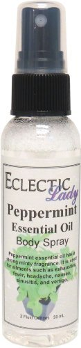 Peppermint Essential Oil Body Spray, 2 ounces by Eclectic Lady (Mint Body Spray)