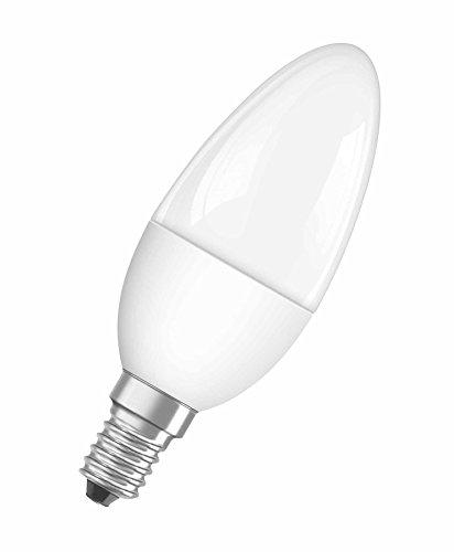 Osram LED Superstar Classic B, in Kerzenform mit E14-Sockel, Dimmbar, Ersetzt 40 Watt, Matt, Warmweiß - 2700 Kelvin, 1er-Pack