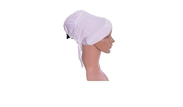 Weiß 2 Stück Topuz Bonnet Untertuch Bandana Watte Hijab Chemo Turban Schwarz