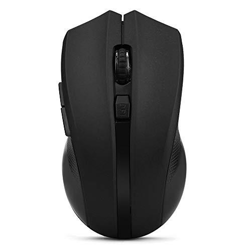 Yowablo Kabellose Gaming Maus, 2.4GHz Optical Funkmaus Maus für PC, MacBook, Laptop, Windows (Schwarz)