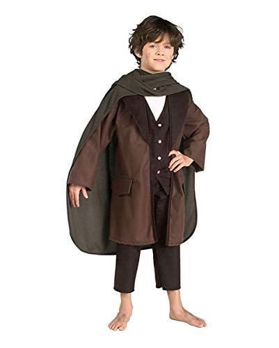 Frodo Beutlin Kostüm für Kinder - Herr der Ringe Kinderkostüm L 8-10 Jahre (Frodo Kostüm)