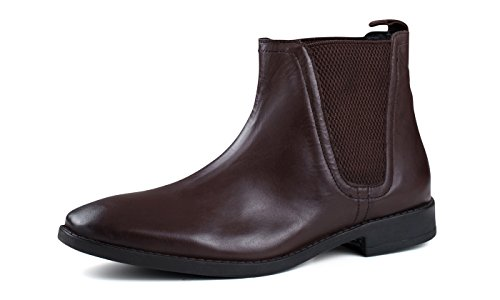 MENS BROWN LEATHER SQUARE TOE CHELSEA BOOT, Size: UK 8 / EURO...