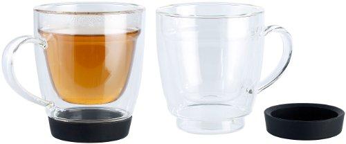 Cucina di Modena Doppelwandige Tasse für Kaffee, Tee und Co., 2er-Set