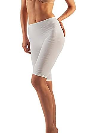Farmacell 112 (Bianco, S/M) Short Massaggiante Pantaloncino Effetto Anticellulite