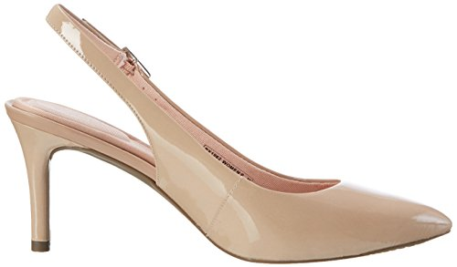 Rockport - Tm75mm Pointy Toe Pump Sling, Scarpe col tacco Donna Beige (warm Taupe Patent)