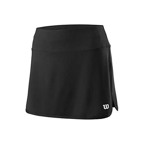 Wilson Damen Tennis-Rock, W Team 12.5'' Skirt, Polyester/Elasthan, Schwarz, Größe: M, WRA7 Preisvergleich