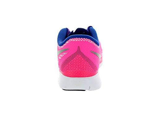 Nike - Free 5.0, pantofole per bambine e ragazze (hyper pink/metallic silver/royal blue)