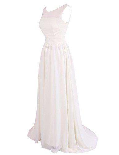 Dressystar Robe femme, Robe de soirée/de bal longue en Mousseline Menthe