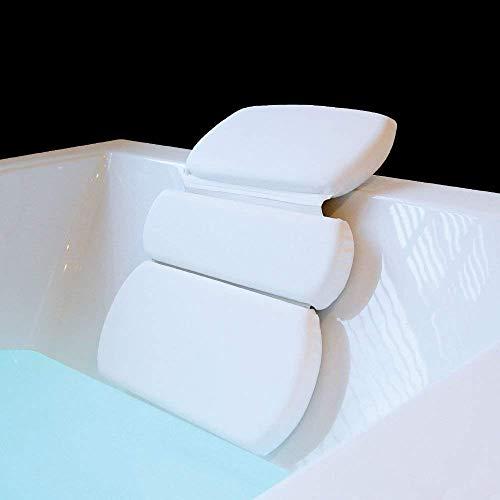 Weiße Männer und Frauen können Komfort verwenden, um den Hals, Badewannenkissen, luxuriöses Badewannenkissen, bequemes Kissen, 7 Saugnäpfe, Badewanne, Whirlpool, Whirlpool, Spa-Kissen für Nacken-Schul -