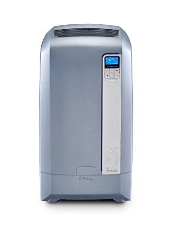 De\'Longhi PAC WE128 Eco Silent Mobiles Klimagerät (Klimaanlage, Wasser-Luft-Technologie, Max. Kühlleistung 3,2 kW/12.500 BTU/h, Separate Entfeuchtungsfunktion, Geeignet für Räume bis zu 110 m³)