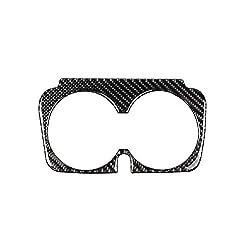 Cratone Sitzbecherhalter Sitzbecherhalter Rahmen Trim Zubehör, für Mercedes-Benz W205 C180 C200 C300 GLC Wasserbecherhalter Panel Dekoration aus echtem Carbon