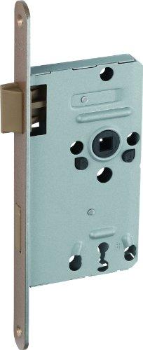 ABUS Tür-Einsteckschloss mit Bunbartschlüssel TK10, L hammerschlag-gold für DIN-links Türen, 20800