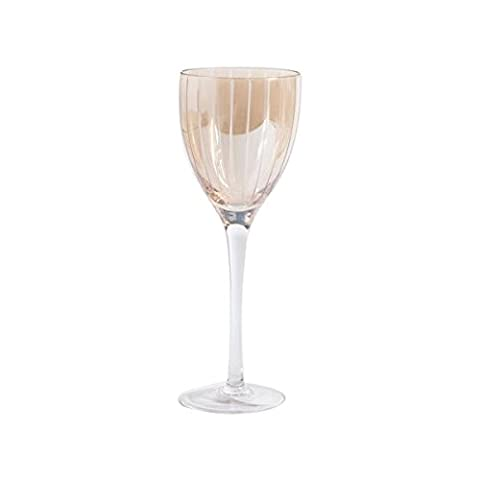 Gibson Home Bancroft Bay Wine Glass (Pack of 4), 12 oz, Gold Etched Glass