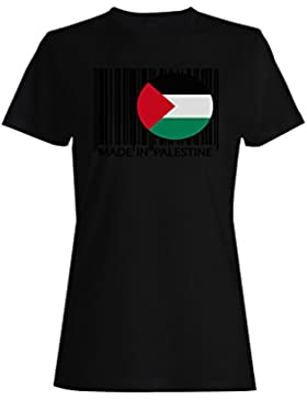 Hecho en palestina viaje mundo divertido novedad camiseta de las mujeres uu23f