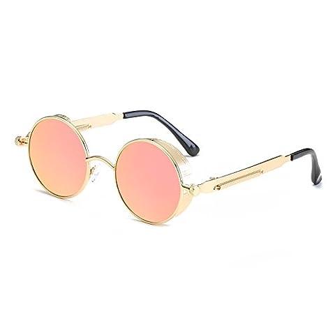 CVOO HD Polarized Women Sunglasses Steam Punk Sun Glases Men Vintage Eyewears