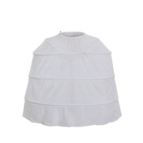 Cosplayitem Damen Petticoat Unterrock Kurz für Rokoko Kleid Blume Mittelalterliche Viktorianischen...