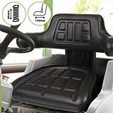 Traktorsitz mit Armlehne und Federung - Längenverstellbar, belastbar bis 130 kg - Treckersitz,...